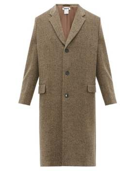 Area Wool Blend Herringbone Overcoat by Hope