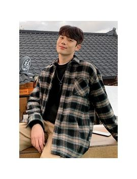 Jogunshop   Loose Fit Plaid Flannel Shirt by Jogunshop
