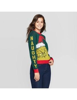 Women's Grinch Graphic Sweatshirt (Juniors')   Green by Dr. Seuss