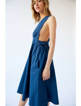 Uo London Surplice Apron Midi Dress by Urban Outfitters