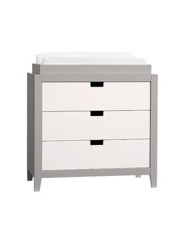 Tatum Dresser & Topper Set, Simply White/Gray by Pottery Barn Kids