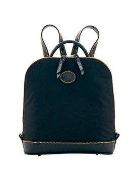 Dooney & Bourke Nylon Zip Pod Backpack (Black/Black) by Dooney & Bourke