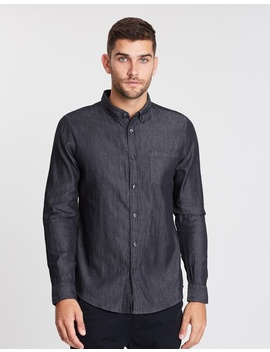 Ls Denim Shirt by Burton Menswear
