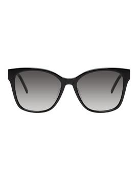 Black Sl M48 Sunglasses by Saint Laurent