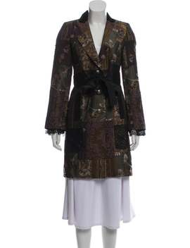 Lace Accented Jacquard Coat by Jean Paul Gaultier