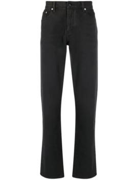 Jeans Med Lige Ben Og Slitageeffekt by Burberry