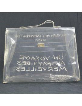 Auth Hermes Vinyl Kelly Beach Hand Bag Souvenir De L'exposition 1997 Ak25996 by Hermes