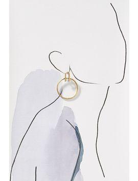 Ana Hoop Drop Earrings by Serefina