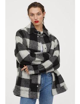 Košeľová Bunda ZVlnenej Zmesi by H&M