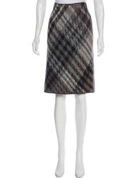 Plaid Pencil Skirt by Missoni