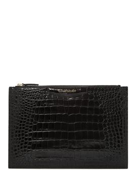 Antigona Medium Crocodile Effect Pouch by Givenchy