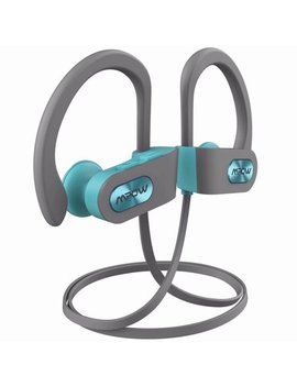 Mpow Flame Bluetooth Headphones Waterproof Ipx7, Wireless Earbuds Sport, Richer Bass Hi Fi Stereo In Ear Earphones W/Case, 7 9 Hrs Playback, Noise Cancelling Microphone Tiffany And Grey by Mpow