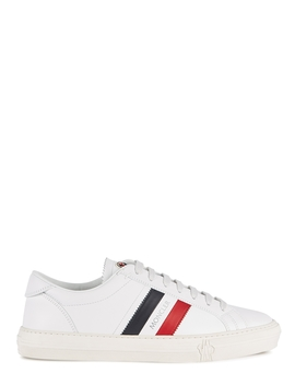 Monaco White Leather Sneakers by Moncler