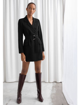 D Ring Belted Mini Blazer Dress by & Other Stories