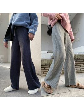 Efo   Knitted Wide Leg Pants by Efo