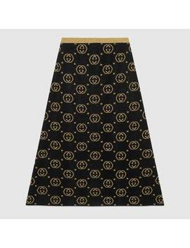Wool Skirt With Gg Motif by Gucci