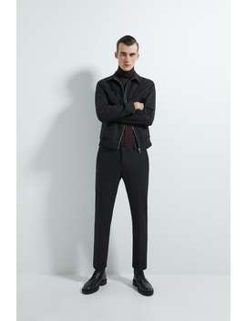 Metallic Thread Suit Pants by Zara
