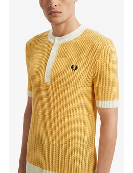 Reissues Buttoned Knitted Crew Neck by Fred Perry