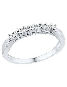 1/20 Ct. T.W. Round Diamond Miracle Set Fashion Ring In Sterling Silver (5.5) by Target