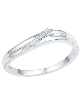 1/20 Ct. T.W. Round Diamond Prong Set Fashion Ring In Sterling Silver (7.5) by Target