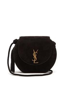 Demi Lune Suede Shoulder Bag by Saint Laurent