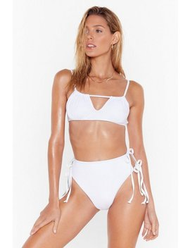 Don't Get Tied Down High Waisted Bikini Set by Nasty Gal
