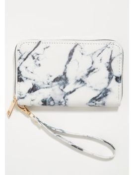 White Marbled Wallet by Rue21