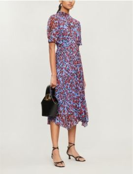 Jungle Cat Flared Crepe Dress by Whistles