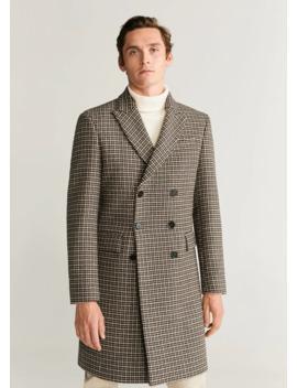 Tweed Wollen Tailored Jas by Mango