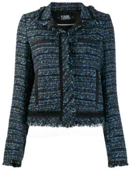 Cropped Tweed Jacket by Karl Lagerfeld