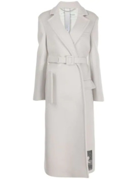 """""""Painting"""" Printed Belted Coat by Off White"""