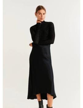 Сатиновая миди юбка by Mango