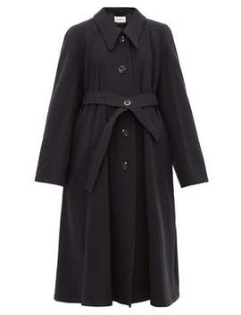 Belted Wool Canvas Coat by Lemaire