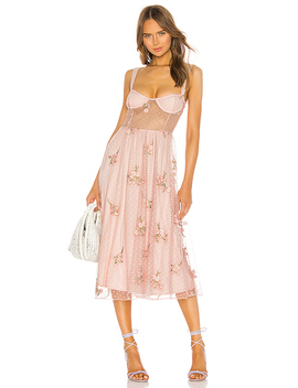 Rina Dress In Princess Pink by Majorelle