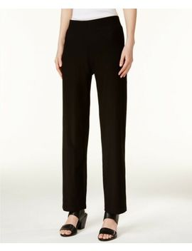 Eileen Fisher System Washable Stretch Crepe Straight Black Pant Sz Pm $168 Nwt by Eileen Fisher