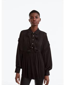 Camisa Oversize Preta by Uterqüe