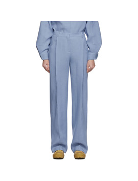 Blue Wool 'le Pantalon Loya' Trousers by Jacquemus