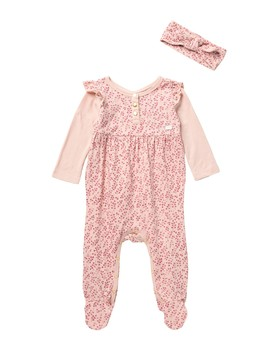 Footie & Headband   2 Piece Set (Baby Girls 0 9 M) by 7 For All Mankind