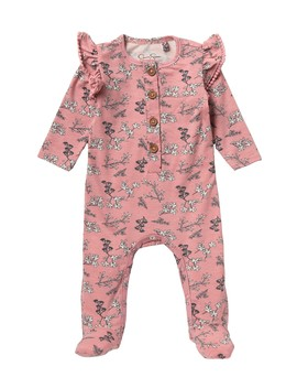 Printed Footie (Baby Girls) by Jessica Simpson