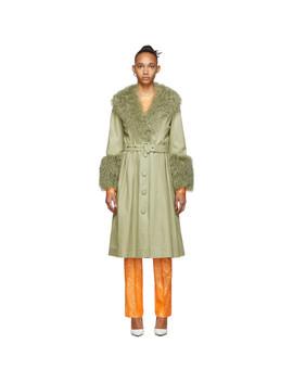 Green Foxy Shearling Coat by Saks Potts