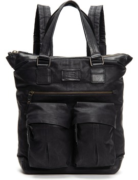 Scout Tall Canvas & Leather Backpack by Frye
