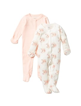 Swans Footie Coveralls   Pack Of 2 (Baby Girls) by Rosie Pope