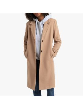 Manteau Droit Long En Drap De Laine by La Redoute Collections