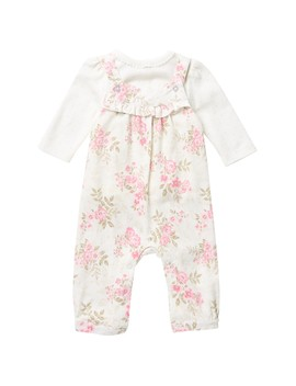 Rose Leaf Overall Set (Baby Girls) by Little Me