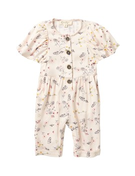Cap Sleeve Floral Romper (Baby Girls) by Jessica Simpson