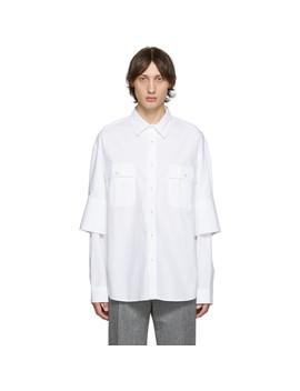 白色双袖口衬衫 by Jw Anderson