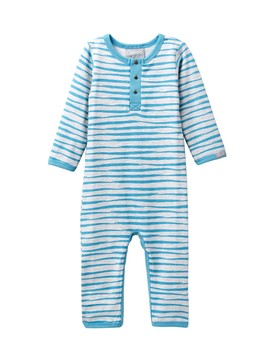 Watercolor Striped Unionsuit (Baby) by Coccoli