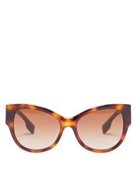 Logo Tortoiseshell Acetate Sunglasses by Burberry
