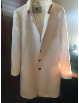 Cream Colored Burberry Coat  Sz 12 Preowned by Burberry