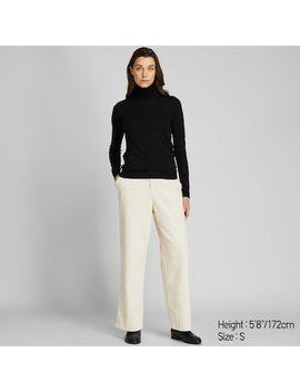 Women Extra Fine Merino Wool Turtleneck Jumper (60) by Uniqlo